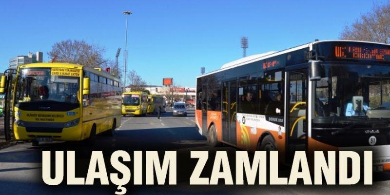 Gaziantep'te toplu taşımaya zam