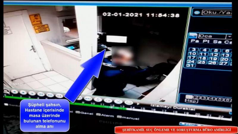 Sağlık çalışanının telefonunu çalan şüpheli yakalandı