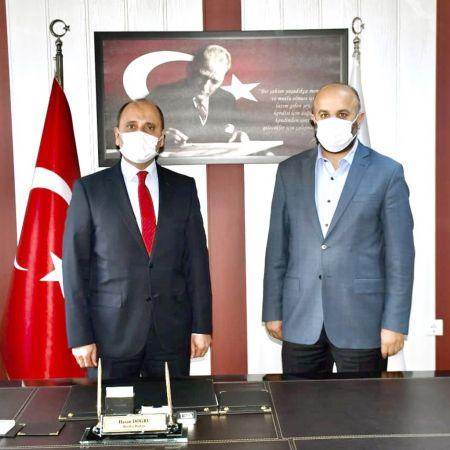 Başkan Doğru projelerini Milletvekili Kirazoğlu'na anlattı