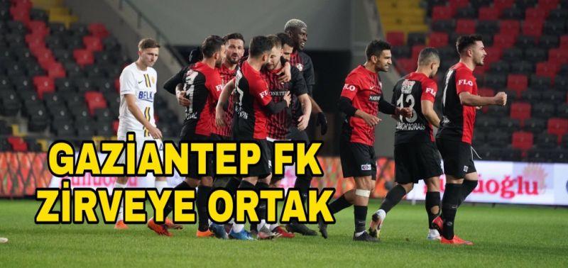 GAZİANTEP FK, LİDERLİĞE ORTAK OLDU 2-0