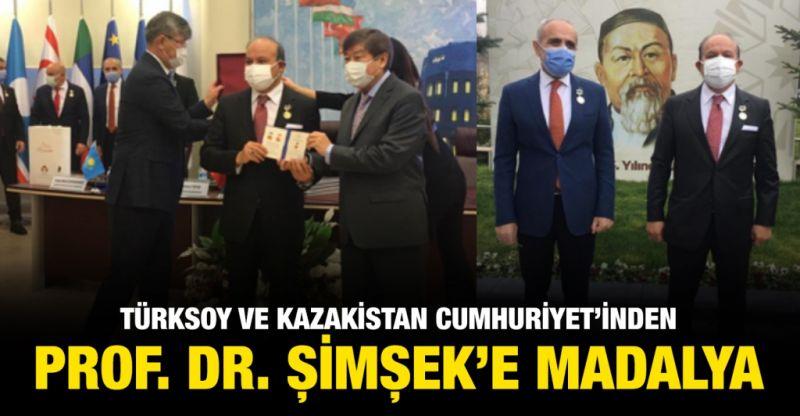 TÜRKSOY VE KAZAKİSTAN CUMHURİYET'İNDEN ŞİMŞEK'E MADALYA;