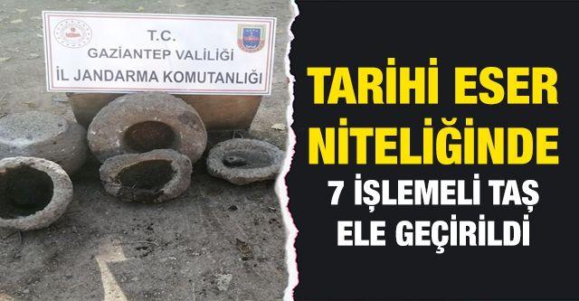 Gaziantep'te tarihi eser niteliğinde 7 işlemeli taş ele geçirildi: 1 gözaltı
