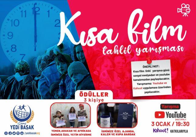 Genç Yedibaşak'tan online kısa film tahlil yarışması