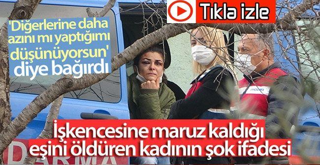 Video İzle...Kan Donduran Olay...Saatlerce Karısına Çocuklarının Önünde İşkence Etti...İşkencesine maruz kaldığı eşini öldüren kadının şok ifadesi