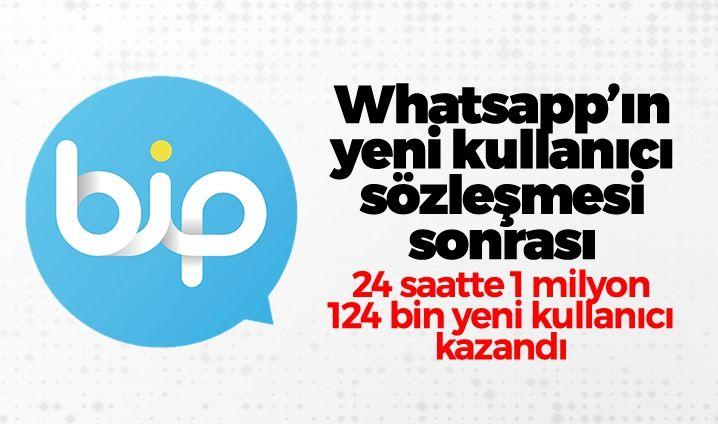 Türk mühendislerinin geliştirdiği BiP uygulamasına son 24 saatte 1 milyon 124 bin yeni kullanıcı