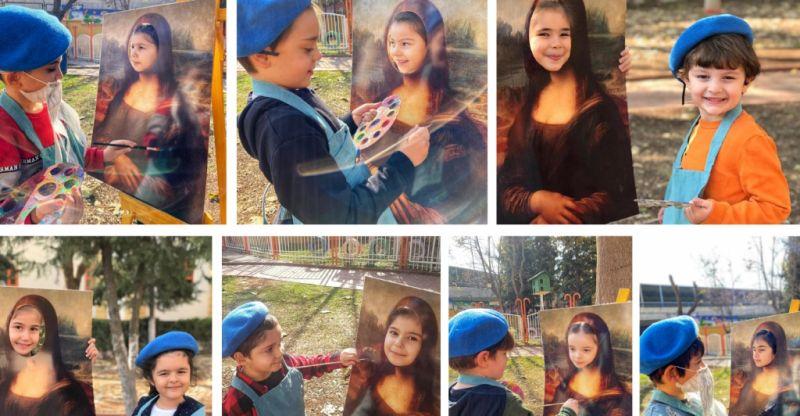 GKV'li Minik Ressamlar Ünlü Ressamların Resimlerini Keşfediyor