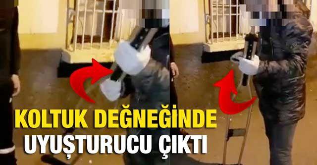 Gaziantep'te koltuk değneği içinde uyuşturucu ele geçirildi
