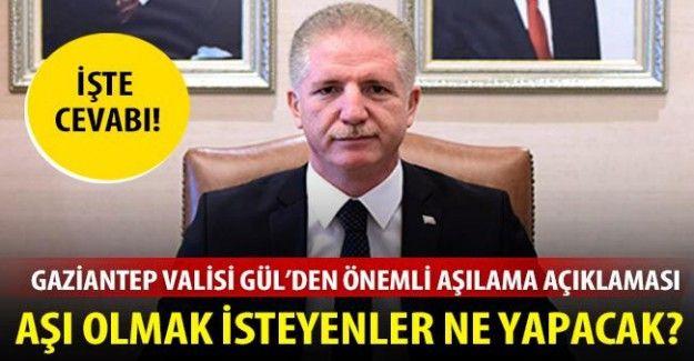 Vali Gül'den aşılama açıklaması
