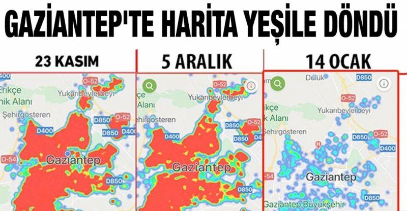 Gaziantep'te harita yeşile döndü