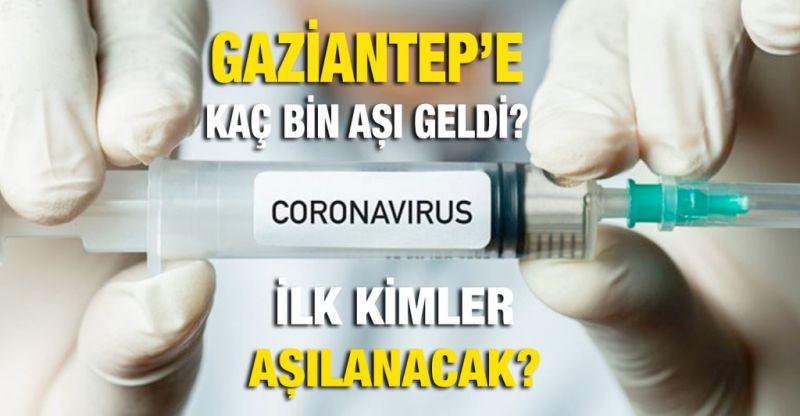 Gaziantep'e kaç bin aşı geldi?