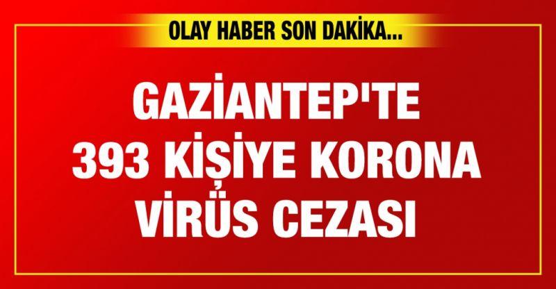 Gaziantep'te 393 kişiye korona virüs cezası
