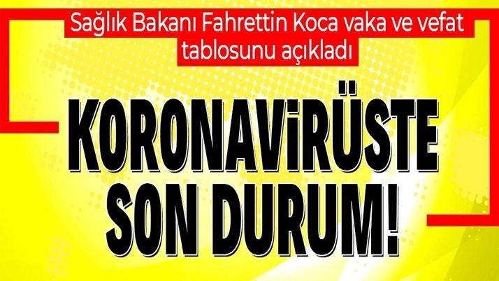 SON DAKİKA: Sağlık Bakanlığı 15 Ocak koronavirüs vaka sayılarını duyurdu   KORONAVİRÜS TABLOSU