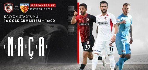 GAZİANTEP FK, KAYSERİSPOR'U KONUK EDİYOR