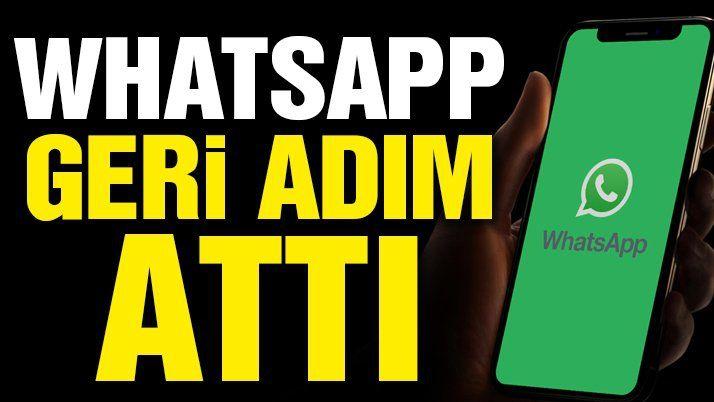 Son dakika… WhatsApp geri adım attı...WhatsApp gizlilik sözleşmesi tarihini erteledi.