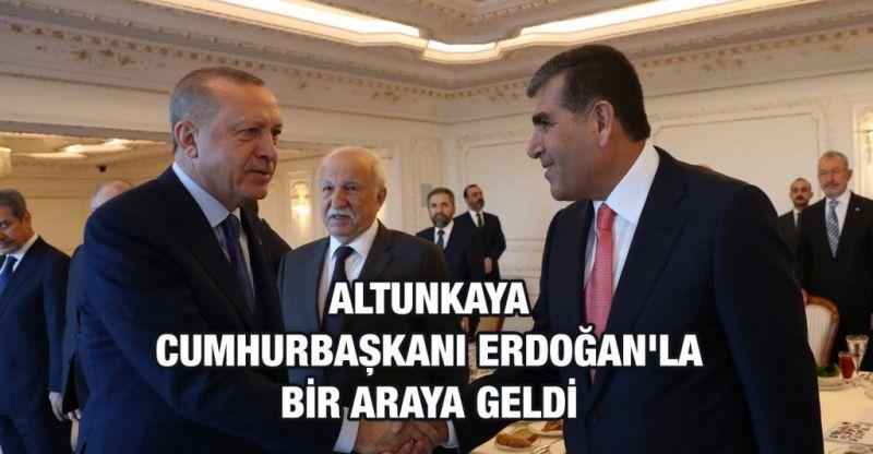 Mahsum Altunkaya Cumhurbaşkanı Erdoğan'la bir araya geldi