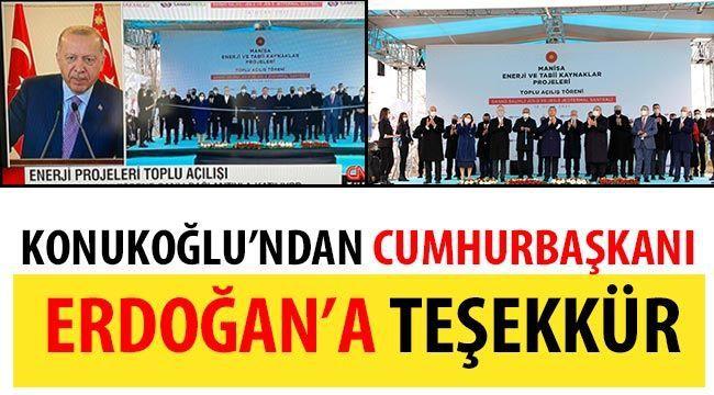 Konukoğlu'ndan Cumhurbaşkanı Erdoğan'a teşekkür