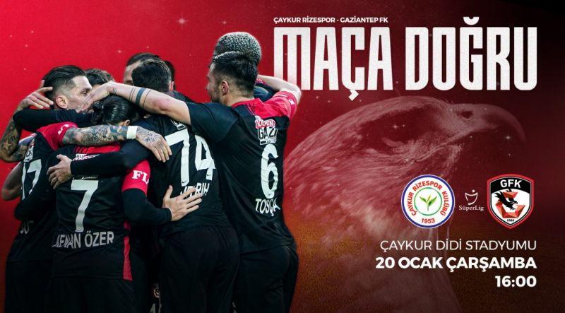 GAZİANTEP FK, RİZESPOR'A KONUK OLUYOR