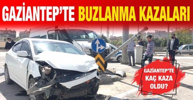 Gaziantep'te buzlanma kazaları.... Gaziantep'te kaç kaza oldu?