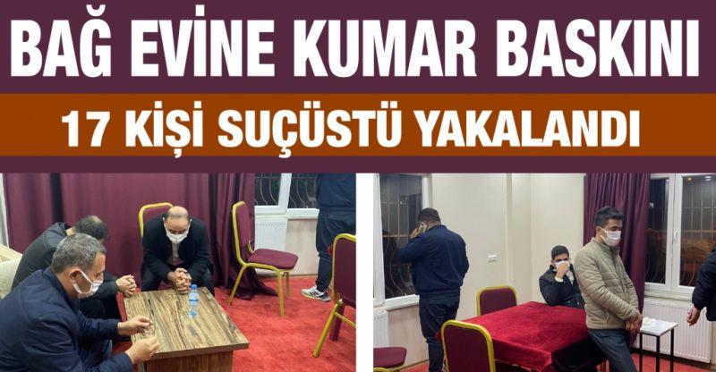 Gaziantep'te bağ evinde kumar oynayan 17 kişi suçüstü yakalandı