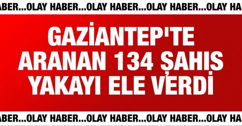 Gaziantep'te aranan 134 kişi kıskıvrak yakalandı