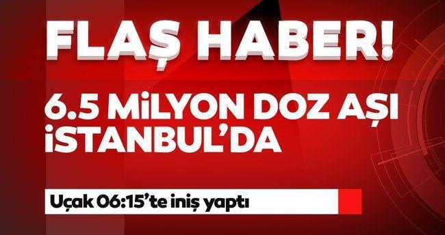 Son dakika: 6,5 milyon Sinovac aşısını taşıyan uçak İstanbul Havalimanı'na iniş yaptı