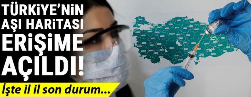 Türkiye'nin aşı haritası erişime açıldı! İşte il il son durum…