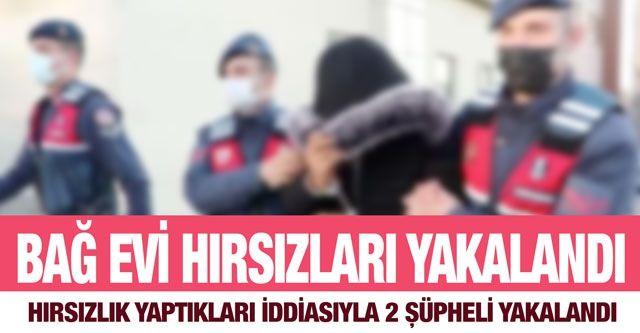 Gaziantep'te bağ evlerinden hırsızlık yaptıkları iddiasıyla 2 şüpheli yakalandı