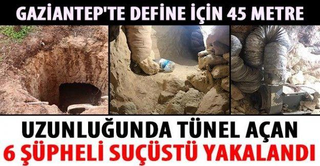 45 metre uzunluğunda tünel açan 6 şüpheli suçüstü yakalandı