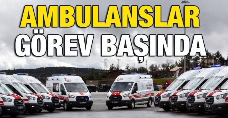 AB tarafından finanse edilen 38 ambulansın teslimi için Gaziantep'te tören düzenlendi