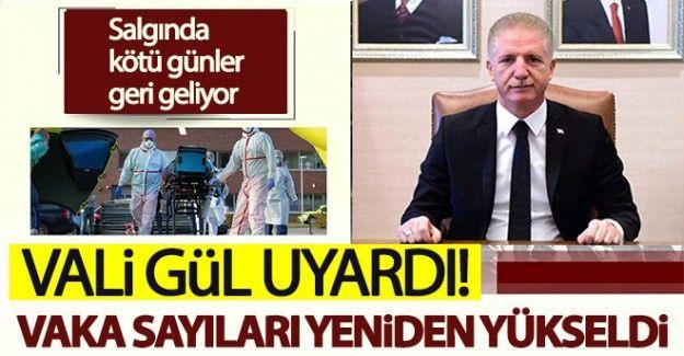 Vali Gül uyardı! Gaziantep'te vaka sayıları yeniden yükseldi