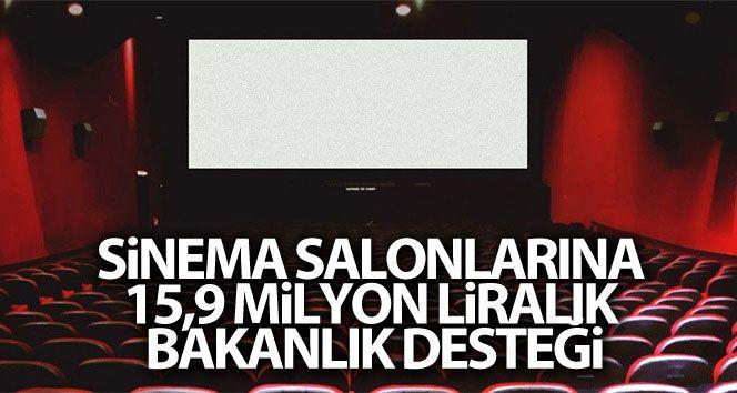Kültür ve Turizm Bakanlığınca 74 ildeki 159 sinema salonuna 15,9 milyon lira destek sağlanacak.