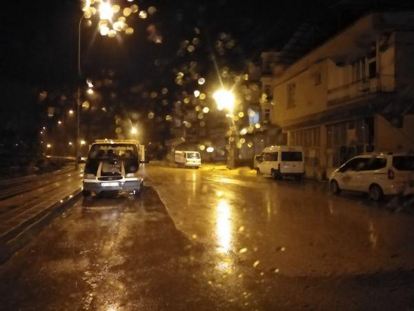Yavuzelin'de yağmur etkili oldu