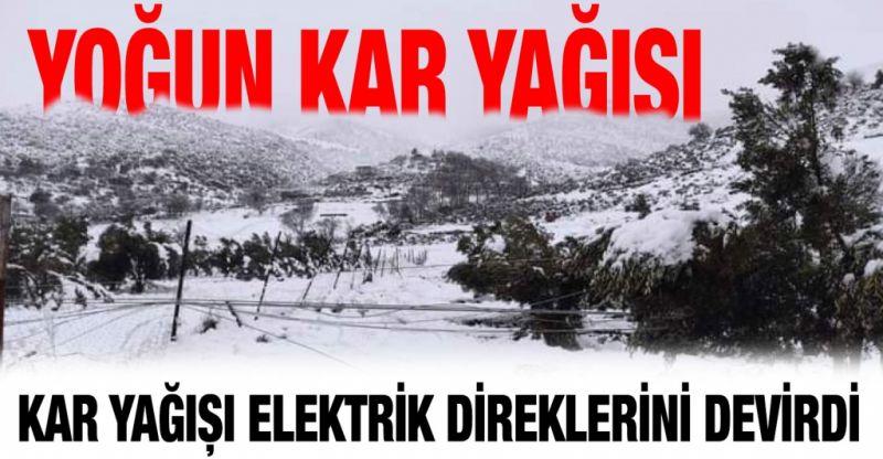 Son Dakika...Gaziantep'in Nurdağı İlçesinde Yoğun Kar Yağışı