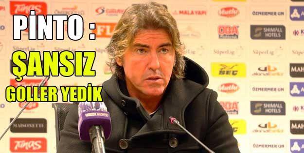 """Ricardo Sa Pinto: """"Şanssız goller yedik"""""""