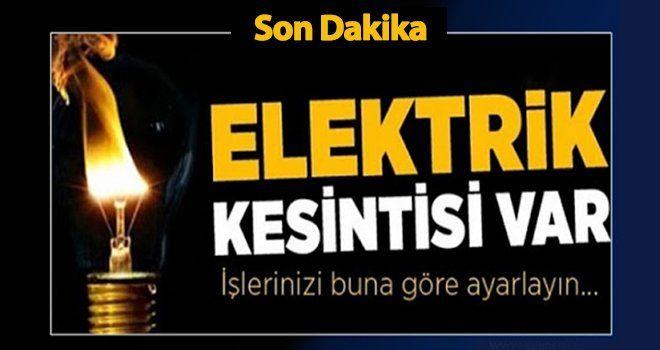 Son Dakika...Gaziantep'te Yarın O Mahallede 8 Saat Elektrik Yok!..8 Şubat (Pazartesi) 2021 yine elektrik kesintisi olacak!