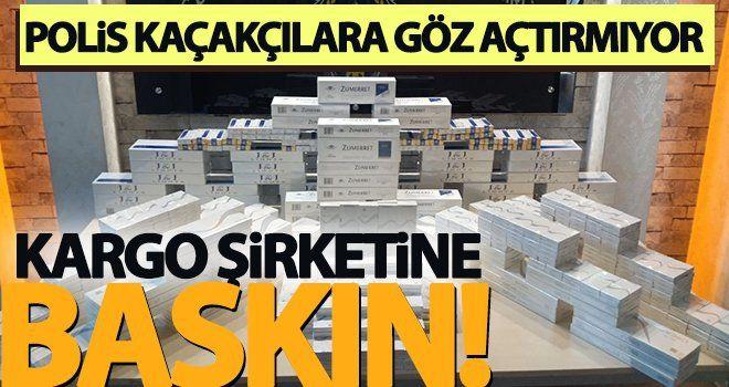 Gaziantep'te kargo şirketine kaçak sigara operasyonu