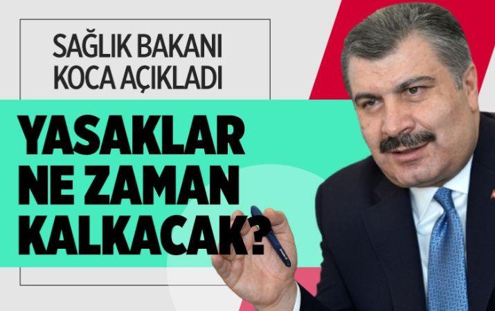 Sokağa çıkma yasağı ile restoran ve kafe yasağı ne zaman bitecek? Sağlık Bakanı Fahrettin Koca açıkladı