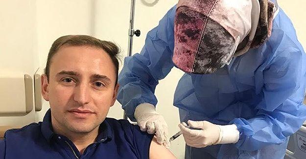 Kaymakam Mutlu Covid-19 aşısının ilk dozunu yaptırdı
