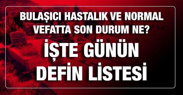 Son dakika… Gaziantep'te 17.02.2021 (Çarşamba) bugün kaç kişi Vefat Etti...? İşte Gaziantep'te günün defin listesi? Bulaşıcı hastalık ve normal vefatta son durum ne?
