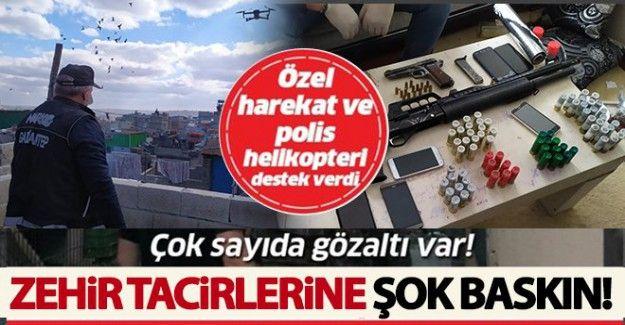 Gaziantep'te dev uyuşturucu operasyonu! Çok sayıda gözaltı var