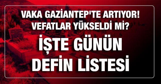 Son dakika.. Vaka Gaziantep'te artıyor! Vefatlar yükseldi mi? İşte günün defin listesi