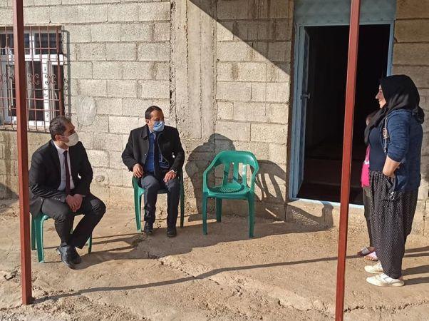Nurdağı Kaymakamı Akça'dan ev ziyaretleri