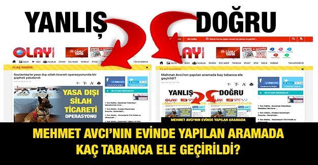 Mehmet Avcı'nın yapılan aramada kaç tabanca ele geçirildi?