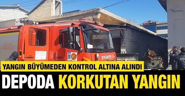 Gaziantep'te bir depoda çıkan yangın büyümeden kontrol altına alındı
