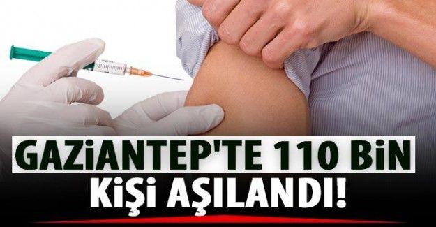 Gaziantep'te 110 bin kişi aşı yaptırdı