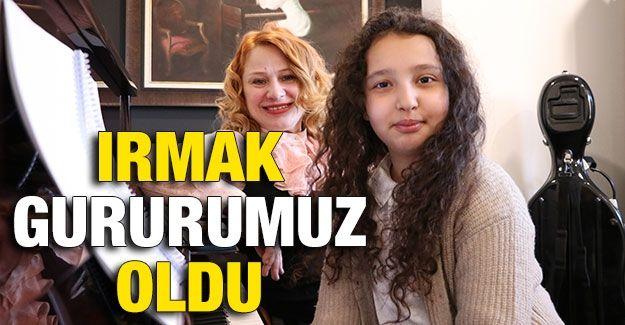 Gaziantepli 10 yaşındaki Irmak katıldığı ilk uluslararası piyano yarışmasında ikinci oldu