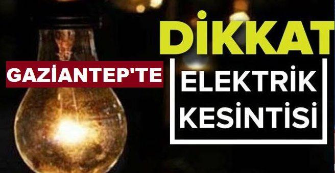 Son Dakika...Gaziantep'e Enerjisa 26 Şubat 2021 Cuma (Yarın) Planlı Elektrik Kesintisi Duyurdu...Gaziantep'te O İlçeler ve Mahallelerde Cuma günü (Yarın) Elektrik kesintisi yaşanacak