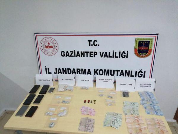 Gaziantep'te uyuşturucu operasyonunda 5 şüpheli yakalandı
