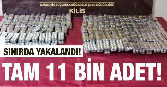 11 bin 937 adet uyuşturucu hap yakalandı