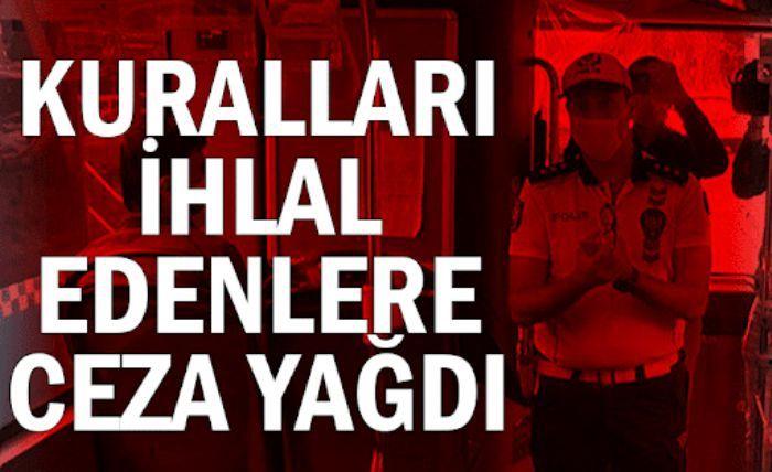 Gaziantep ve Malatya'da Kovid-19 tedbirlerini ihlal eden 605 kişiye para cezası
